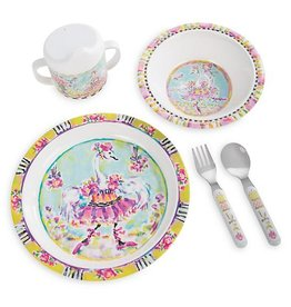 MacKenzie-Childs Toddlers Dinnerware Set-Bella Ballerina