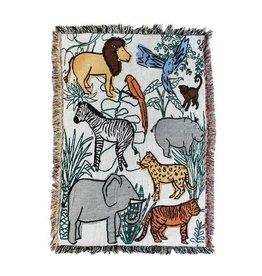 Calhoun & Co. Into The Jungle Mini Throw Blanket