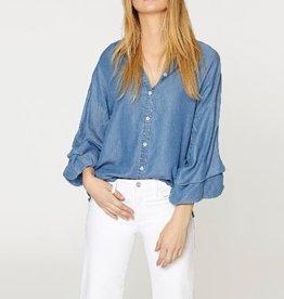 Sanctuary Brynn Folded Sleeve Shirt