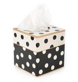MacKenzie-Childs Dot Boutique Tissue Box Holder