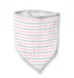 Swaddle Designs Marquisette Bandana Bib - Pastel Pink Simple Stripes