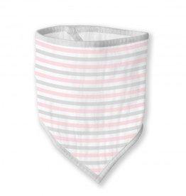 Swaddle Designs Marquisette Bandana Bib - Pastel Pink Simple Stripes