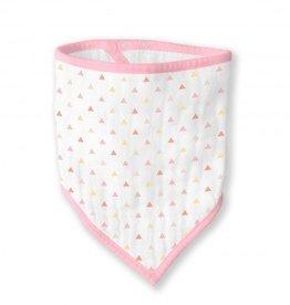Swaddle Designs Muslin Bandana Bib-Tiny Pink Triangles