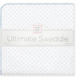 Swaddle Designs Ultimate Swaddle Blanket-Pastel Blue Polka Dots