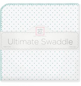 Swaddle Designs Ultimate Swaddle Blanket-Seacrystal Polka Dots