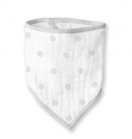 Swaddle Designs Muslin Bandana Bib-French Dot Sterling
