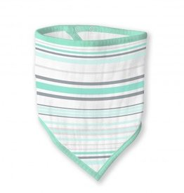 Swaddle Designs Muslin Bandana Bib-Seacrystal Stripes