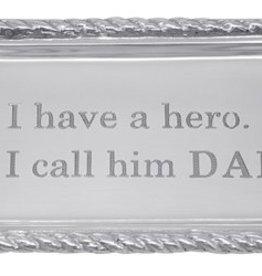 Mariposa I Have A Hero. I Call Him Dad Beaded Tray