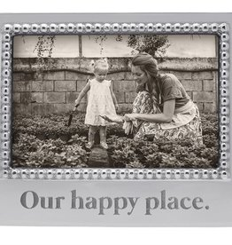 Mariposa 4 x 6 Our Happy Place Beaded Frame
