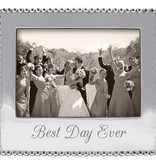Mariposa 5 x 7 Best Day Ever Beaded Frame