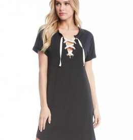 Fifteen Twenty Short Sleeve Lace Up dress