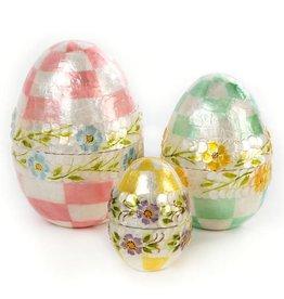 MacKenzie-Childs Pastel Floral Nesting Eggs- Set of 3