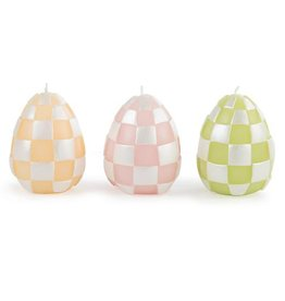 MacKenzie-Childs Pastel Egg Candles - Set of 3