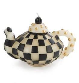MacKenzie-Childs Check Teapot Candle - Black