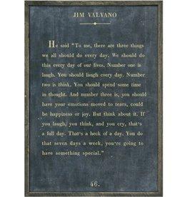 "Sugarboo Designs Jim Valvano Art Print Charcoal-  Grey Wood 17""x25"""