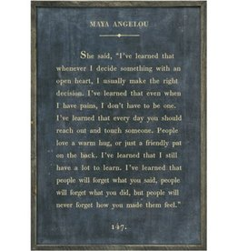 "Sugarboo Designs Maya Angelou Art Print Charcoal- Grey Wood 17""x25"""