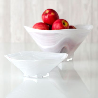Shiraleah Large Square Polished Alabaster Bowl