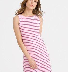Joules Pink Stripe Tank Dress