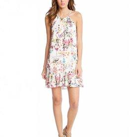Fifteen Twenty Halter Ruffle Hem Dress-Floral