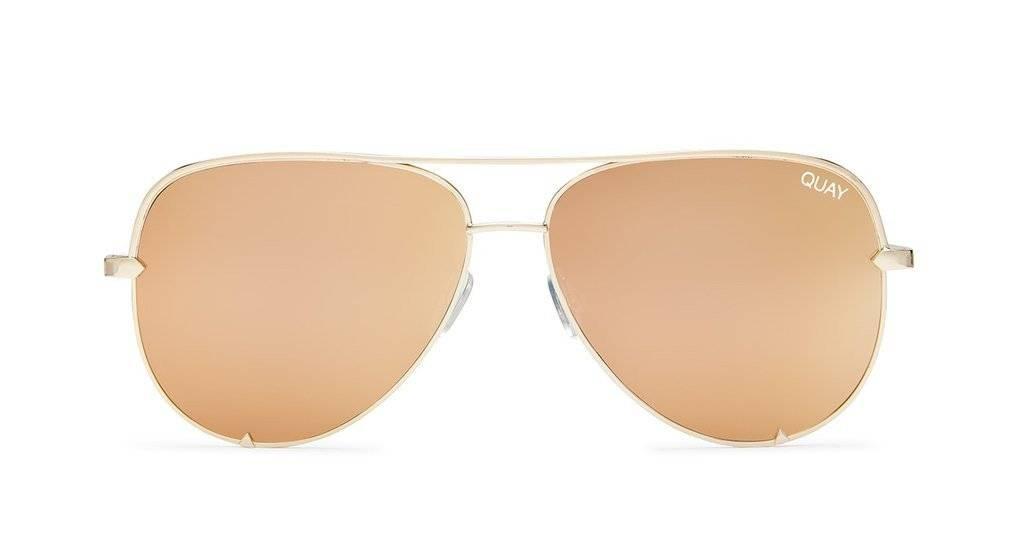 Quay High Key Sunglasses-Gold/Gold
