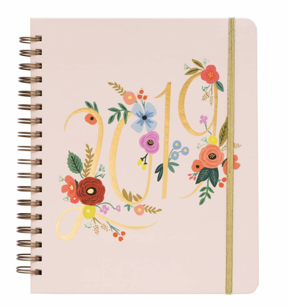Rifle Paper Co. 2019 Juliet Rose Covered Spiral Planner