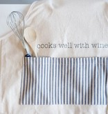 FR & Co Cooks Well With Wine Apron