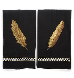 MacKenzie-Childs Feather Guest Towels - Set of 2