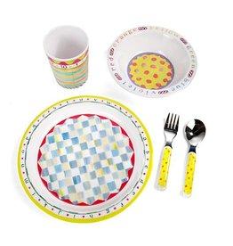 MacKenzie-Childs Toddler's Dinnerware Set - ABC Starter Set