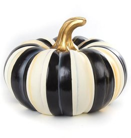 MacKenzie-Childs Courtly Stripe Squashed Pumpkin - Small