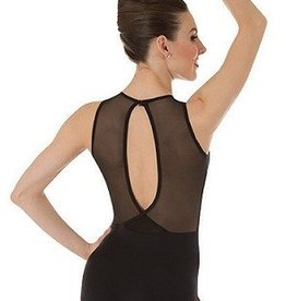Bodywrappers Bodywrappers Power Mesh Slit Back Leotard - Adult
