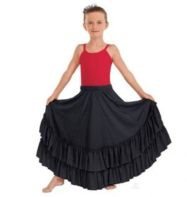 Eurotard Eurotard Solid Double Ruffle Flamenco Skirt - Child