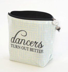 "B Plus Printworks B Plus Printworks Large Cosmetic Bag - ""Dancers Turn Out Better"""