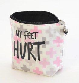 "B Plus Printworks B Plus Printworks Large Cosmetic Bag - ""My Feet Hurt"""