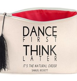 B Plus Printworks B Plus Printworks Canvas Cosmetic Bag - Samuel Beckett
