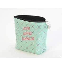 "B Plus Printworks B Plus Printworks Large Cosmetic Bag - ""Live!Love!Dance!"""