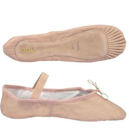 Bloch/Mirella Bloch Leather Full Sole Ballet Slippers - Child