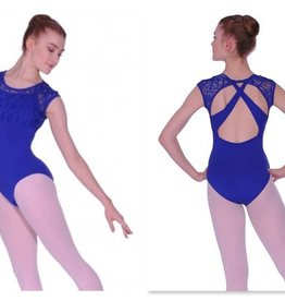 Bloch/Mirella Bloch Crochet Lace Cap Sleeve Leotard