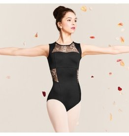 Bloch/Mirella Bloch Printed Mesh Zip Back Tank Leotard