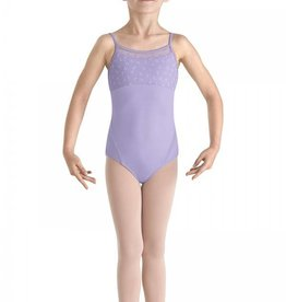 Bloch/Mirella Bloch Flock Mesh Cami Leotard - Child