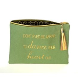 B Plus Printworks B Plus Printworks Canvas Cosmetic Bag - Heart