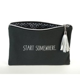 B Plus Printworks B Plus Printworks Canvas Cosmetic Bag - Start Somewhere