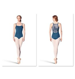 Bloch/Mirella Bloch Vine Flock Back Leotard - Adult
