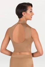 Bodywrappers mock neck crop bra top