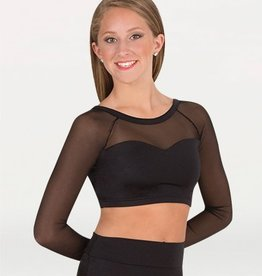 Bodywrappers sweetheart neckline long sleeve