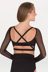 Bodywrappers sweetheart neckline long sleeve