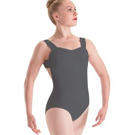 Motionwear Pinch-Front X-Back Wide-Strap Leotard