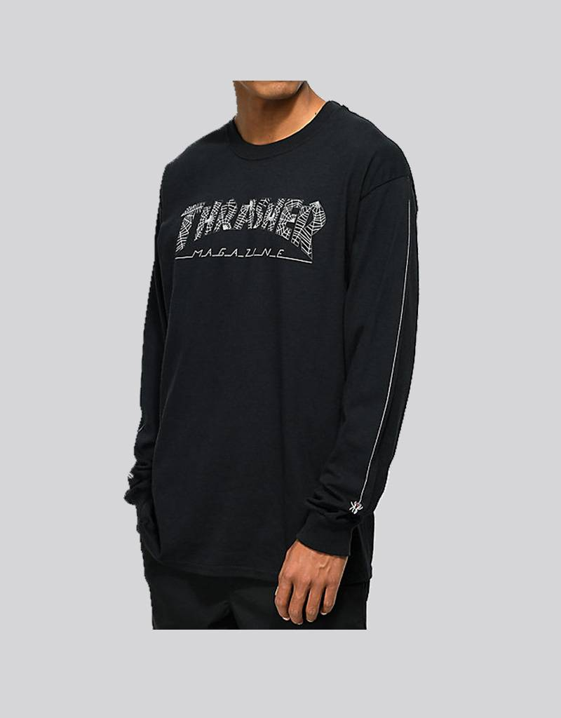 thrasher web long sleeve tee