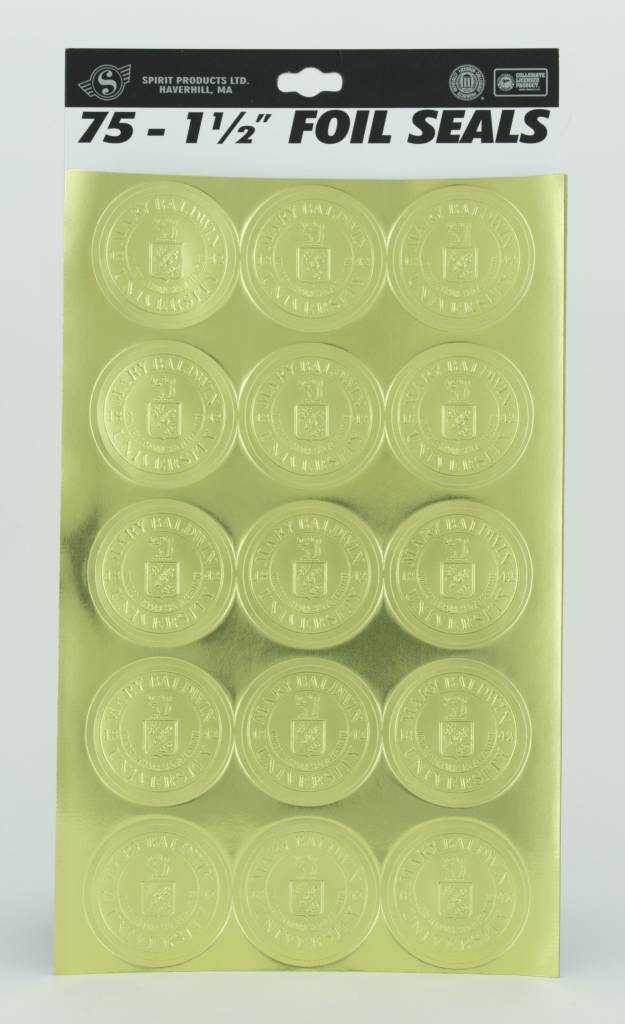 Spirit Products Gold Foil Universtiy Seals w/ adhesive (75 per package)