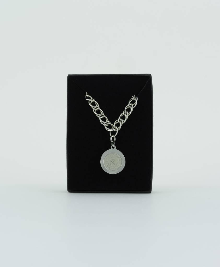 Pendant Bracelet w/ University Charm (Silver)