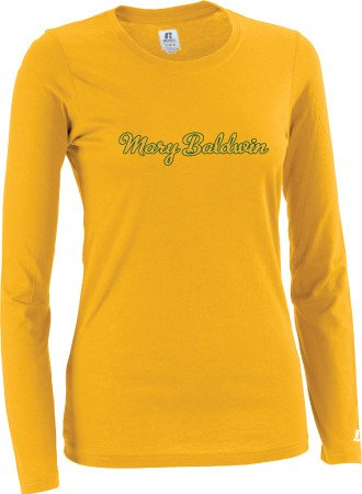 Russell Athletic Russell Long Sleeve Tee w/ Mary Baldwin  (Gold)